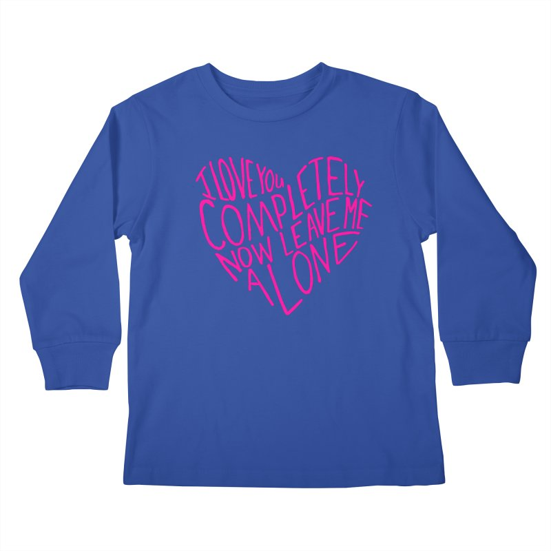 Introvert Love (Pink) Kids Longsleeve T-Shirt by Lauren Things Store