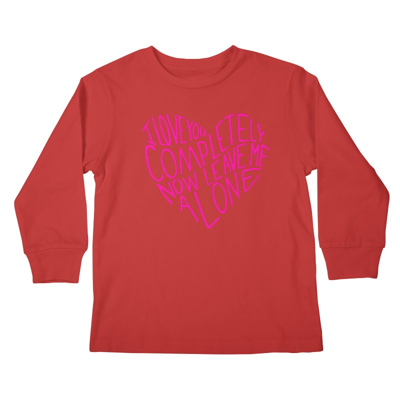Introvert Love (Pink) Kids Longsleeve T-Shirt by Lauren Things Store