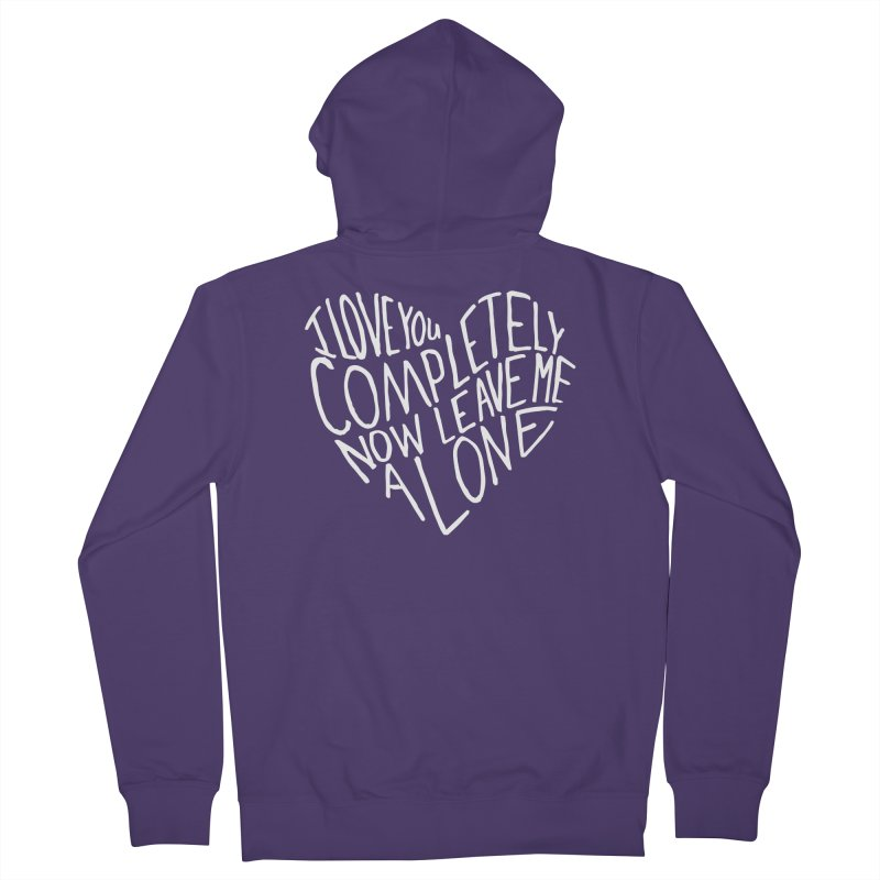 Introvert Love (Light) Women's French Terry Zip-Up Hoody by Lauren Things Store