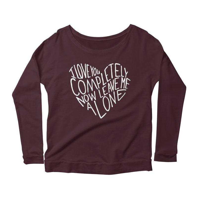 Introvert Love (Light) Women's Longsleeve Scoopneck  by Lauren Things Store