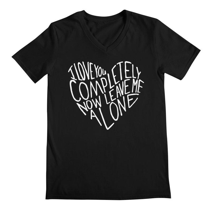 Introvert Love (Light) Men's Regular V-Neck by Lauren Things Store