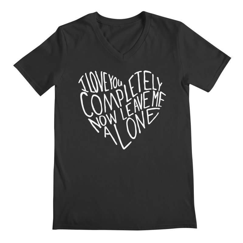 Introvert Love (Light) Men's V-Neck by Lauren Things Store