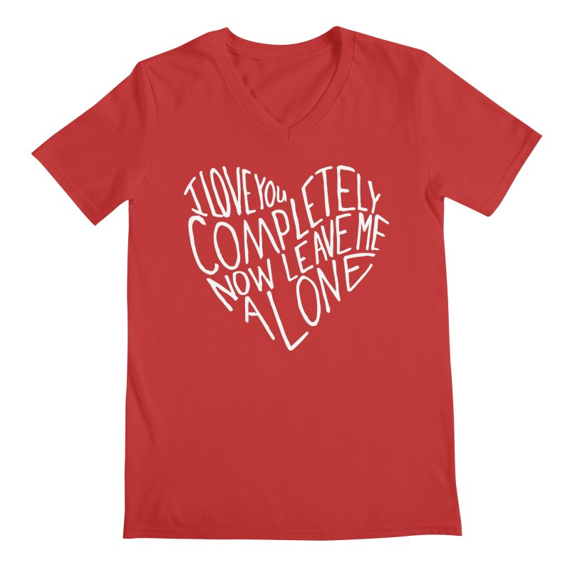 Introvert Love (Light) Men's Regular V-Neck by Lauren Things Store