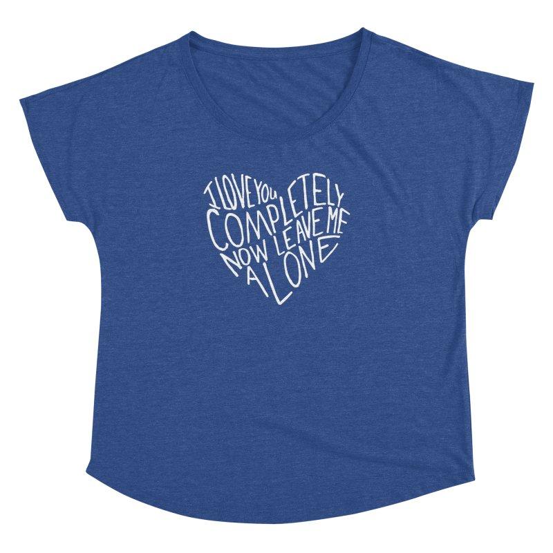 Introvert Love (Light) Women's Dolman Scoop Neck by Lauren Things Store