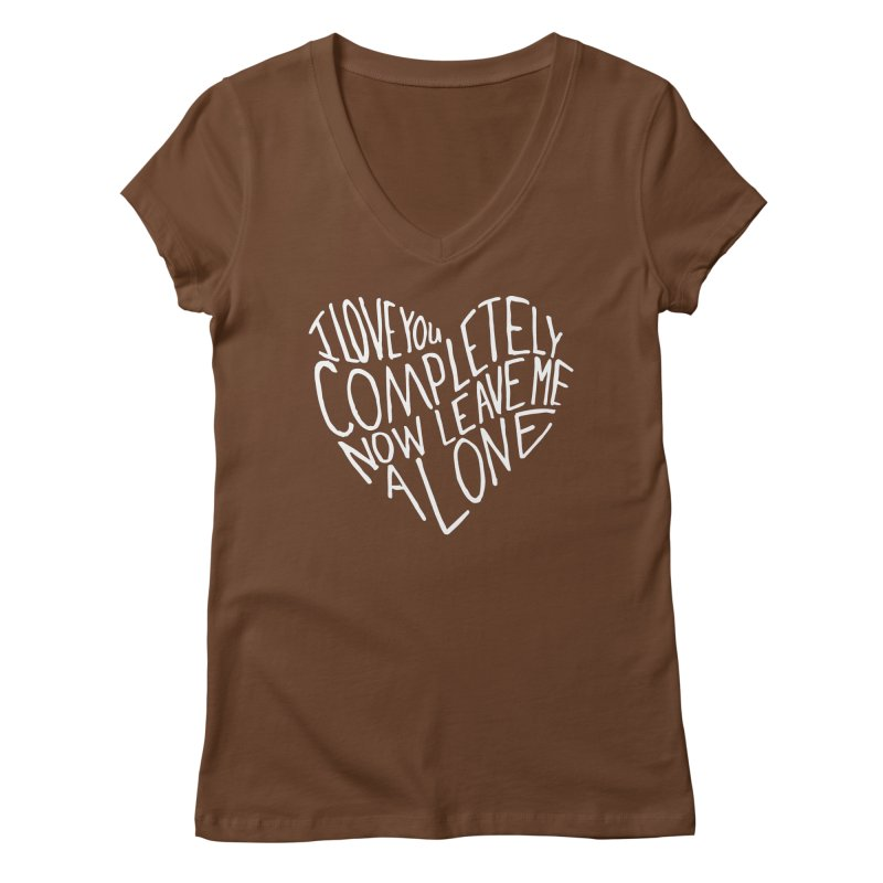 Introvert Love (Light) Women's V-Neck by Lauren Things Store