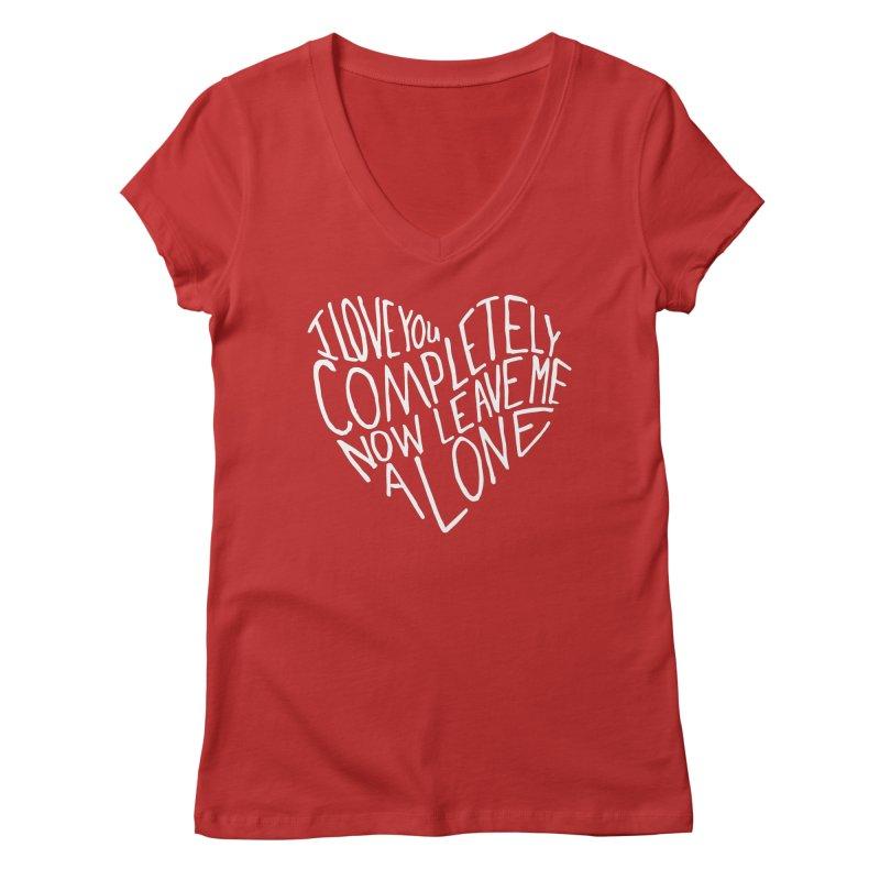 Introvert Love (Light) Women's Regular V-Neck by Lauren Things Store