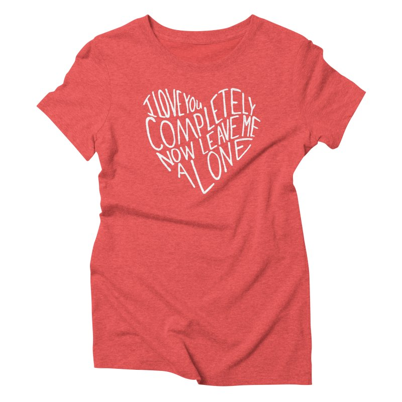 Introvert Love (Light) Women's Triblend T-Shirt by Lauren Things Store