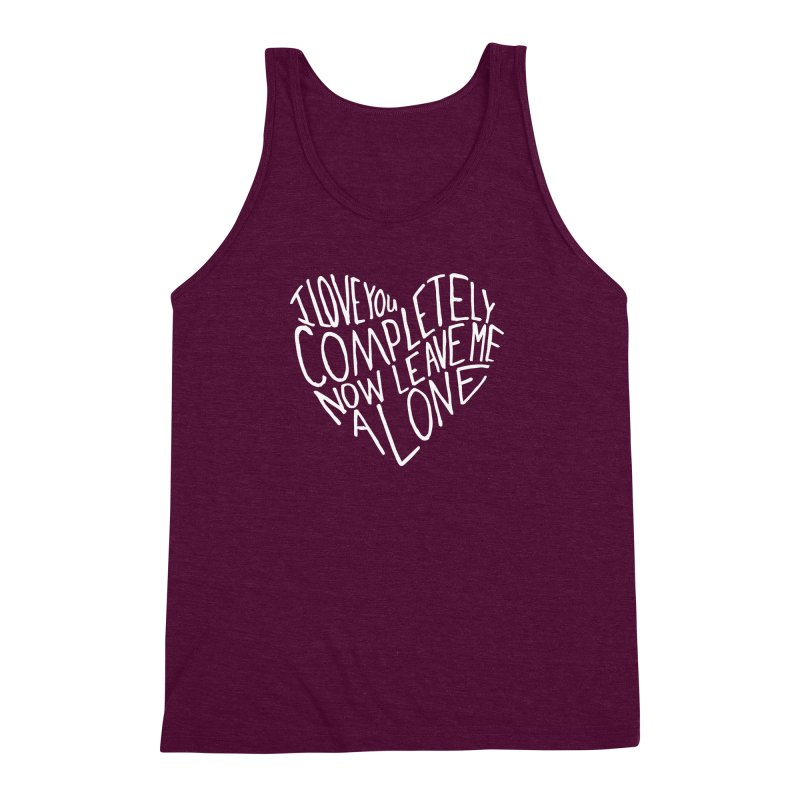 Introvert Love (Light) Men's Triblend Tank by Lauren Things Store