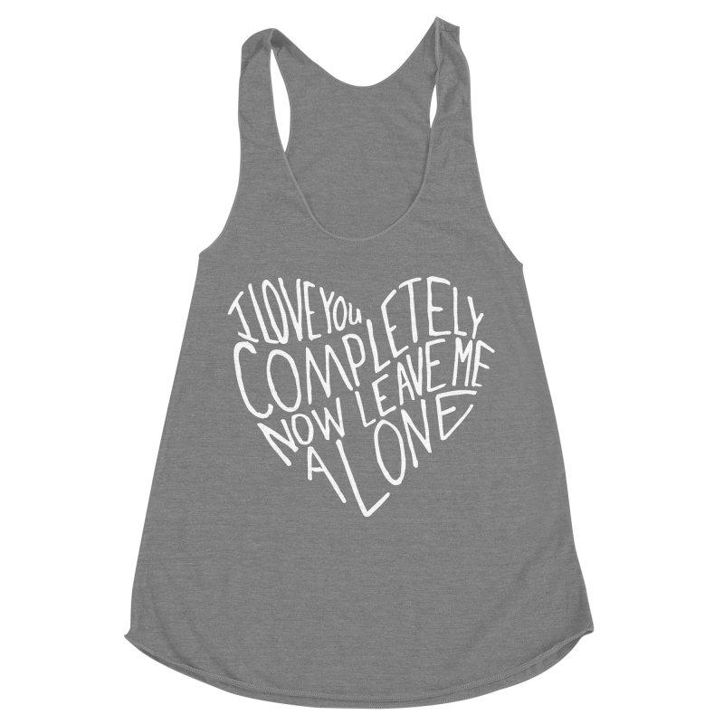 Introvert Love (Light) Women's Racerback Triblend Tank by Lauren Things Store