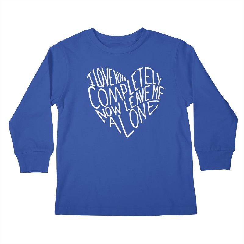 Introvert Love (Light) Kids Longsleeve T-Shirt by Lauren Things Store