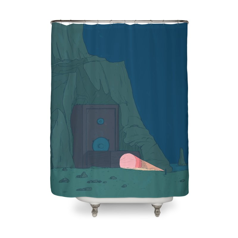 Coastal Search Home Shower Curtain by Laurent's Artist Shop