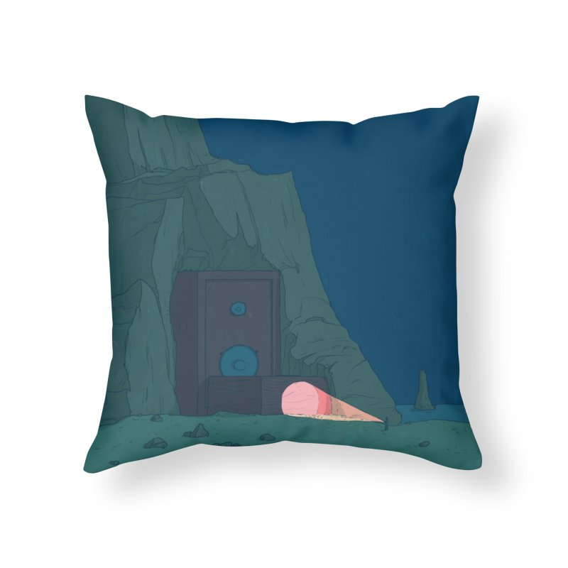 Coastal Search in Throw Pillow by Laurent's Artist Shop