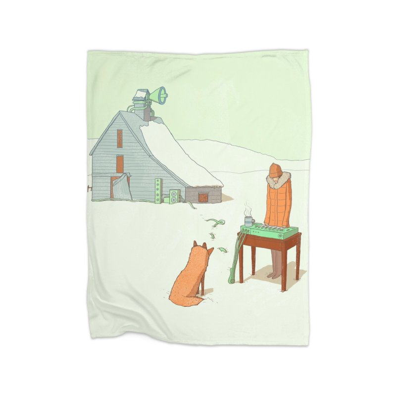 Winter Fox Home Blanket by Laurent's Artist Shop