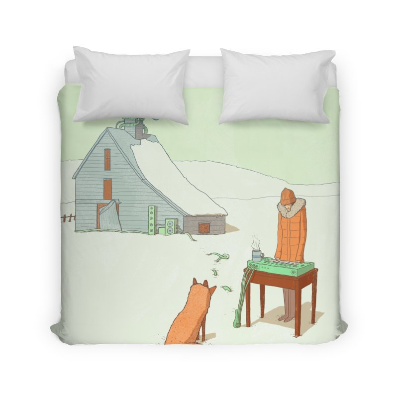 Winter Fox Home Duvet by Laurent's Artist Shop