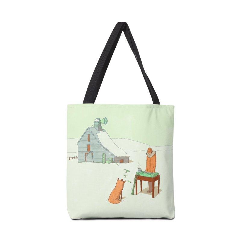 Winter Fox Accessories Bag by Laurent's Artist Shop