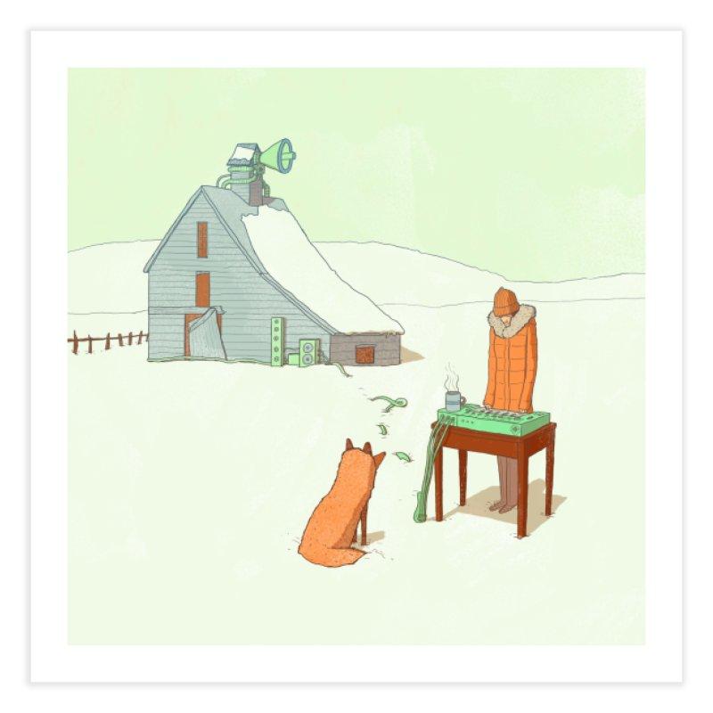 Winter Fox Home Fine Art Print by Laurent's Artist Shop