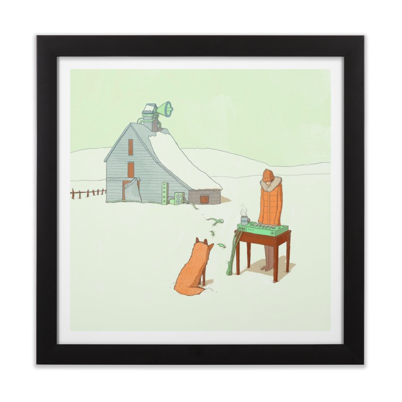 Winter Fox Home Framed Fine Art Print by Laurent's Artist Shop