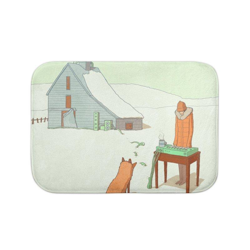 Winter Fox Home Bath Mat by Laurent's Artist Shop
