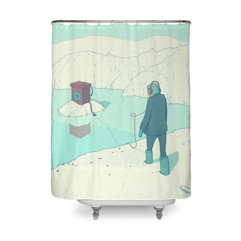 Arctic Sounds Home Shower Curtain by Laurent's Artist Shop