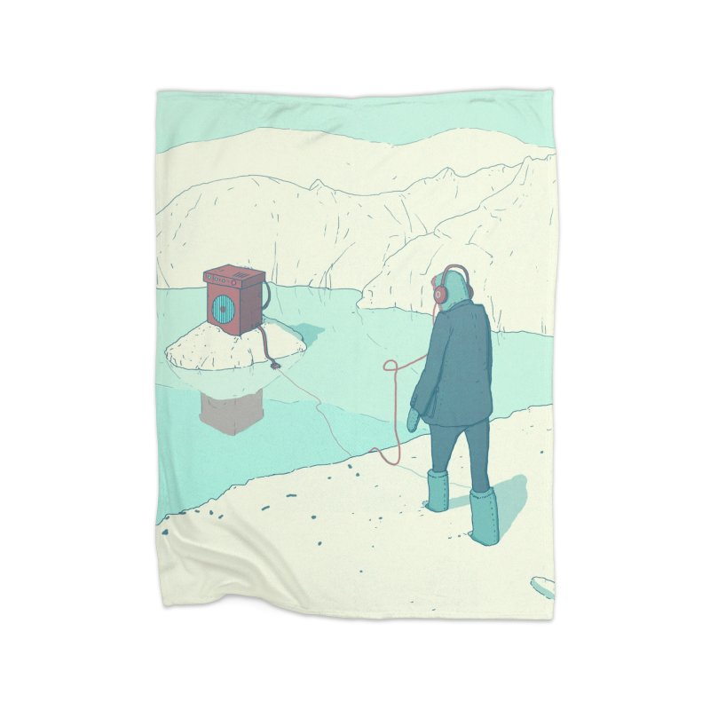 Arctic Sounds Home Blanket by Laurent's Artist Shop