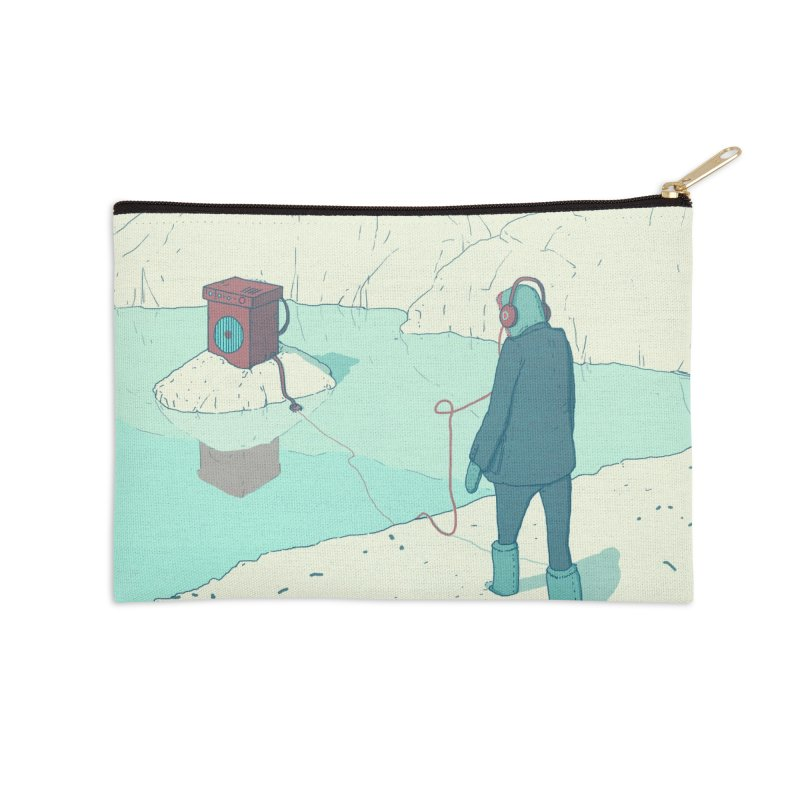 Arctic Sounds Accessories Zip Pouch by Laurent's Artist Shop