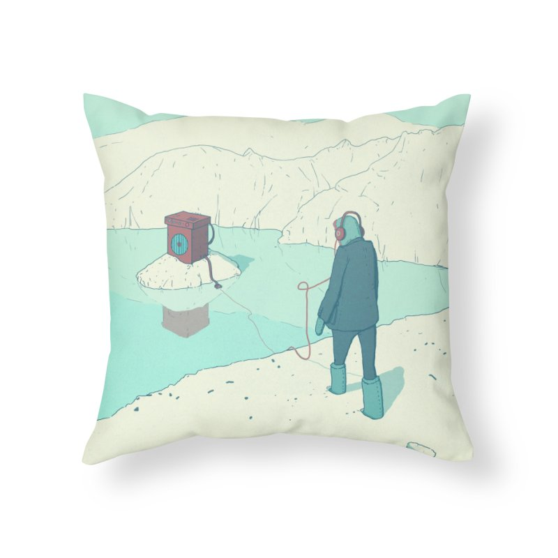 Arctic Sounds Home Throw Pillow by Laurent's Artist Shop