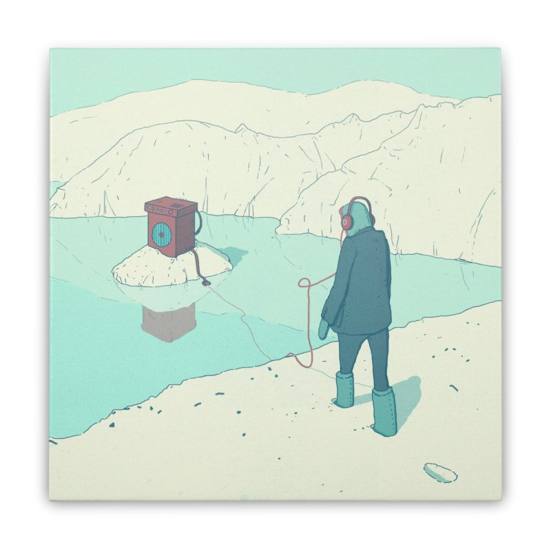 Arctic Sounds Home Stretched Canvas by Laurent's Artist Shop