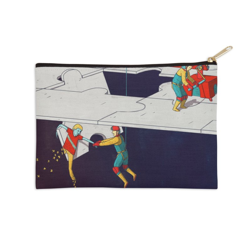 The Helpers Accessories Zip Pouch by Laurent's Artist Shop