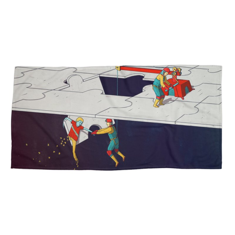 The Helpers Accessories Beach Towel by Laurent's Artist Shop