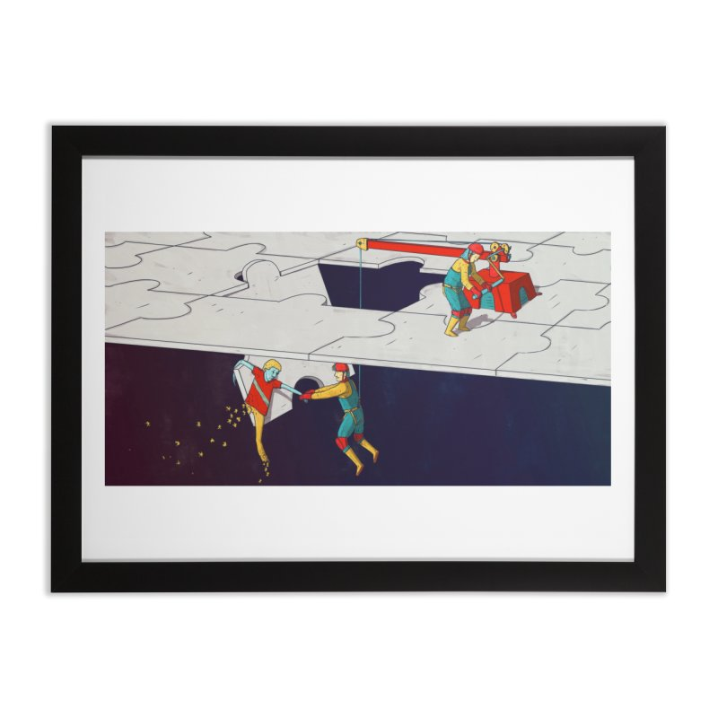 The Helpers Home Framed Fine Art Print by Laurent's Artist Shop