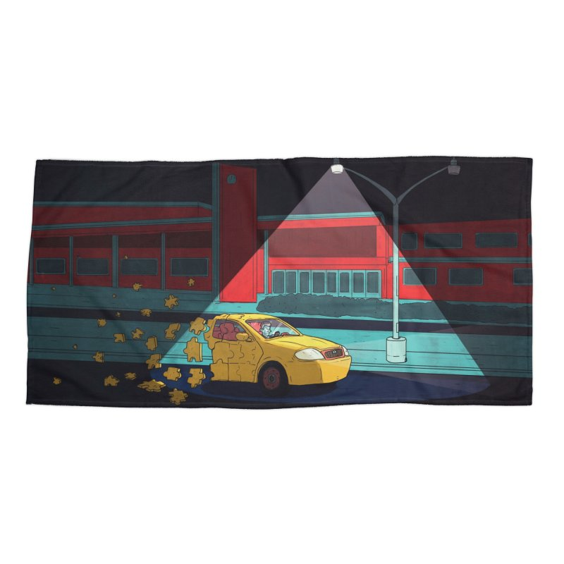 Alone Accessories Beach Towel by Laurent's Artist Shop