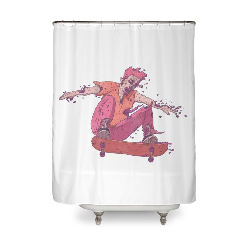 Zombie Skater #1 Home Shower Curtain by Laurent's Artist Shop