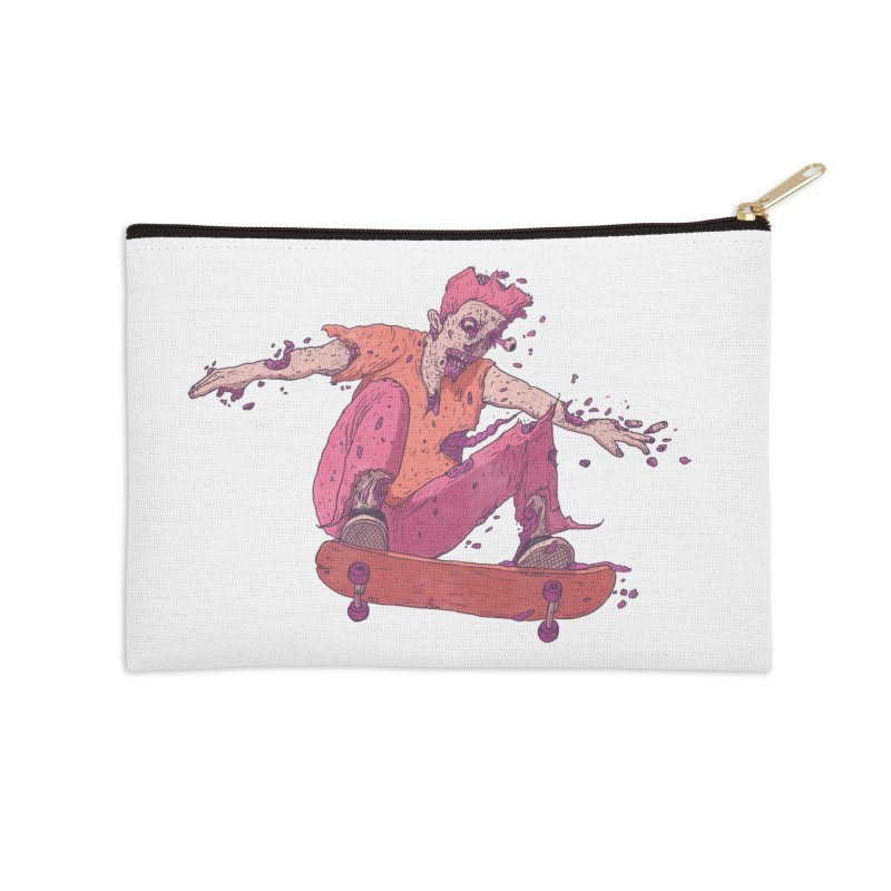 Zombie Skater #1 Accessories Zip Pouch by Laurent's Artist Shop
