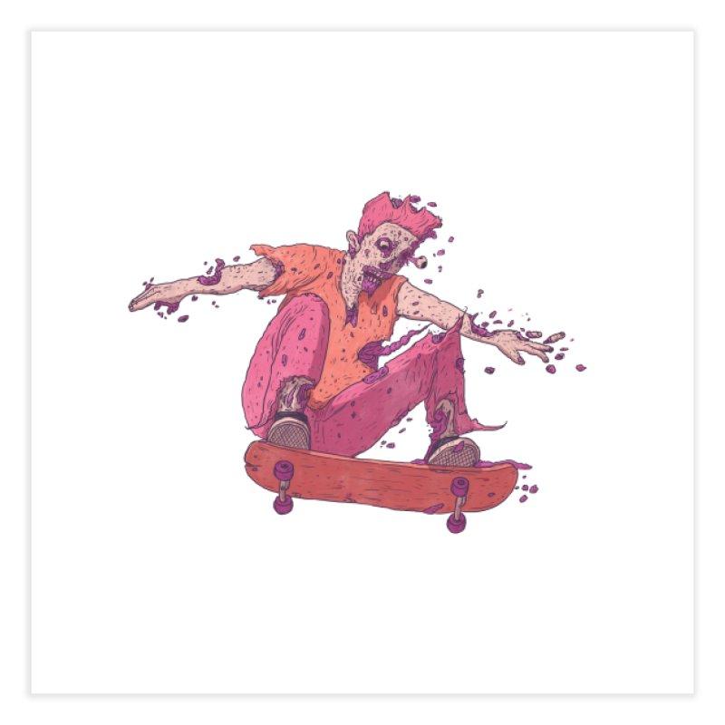 Zombie Skater #1 Home Fine Art Print by Laurent's Artist Shop