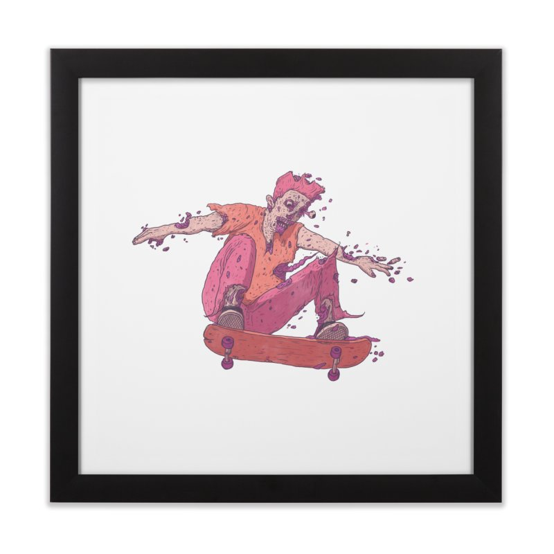 Zombie Skater #1 Home Framed Fine Art Print by Laurent's Artist Shop