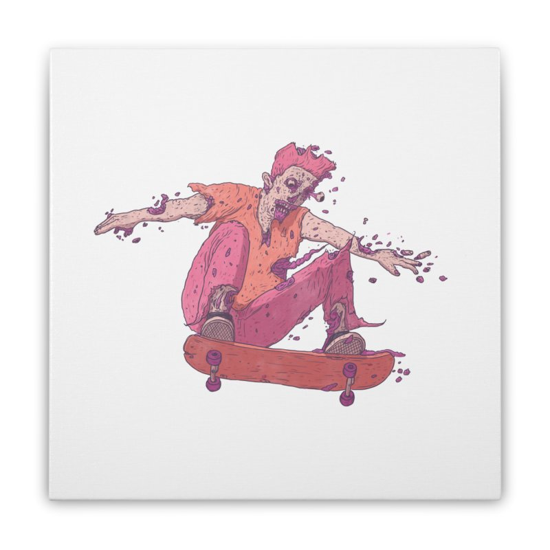 Zombie Skater #1 Home Stretched Canvas by Laurent's Artist Shop