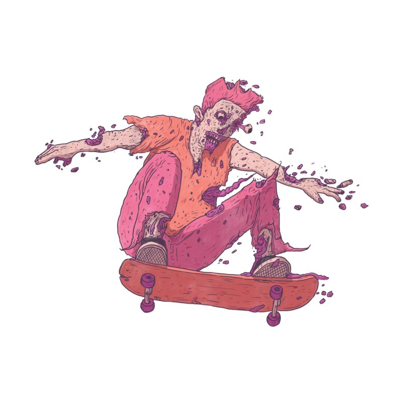 Zombie Skater #1 Men's T-Shirt by Laurent's Artist Shop