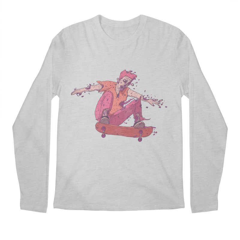Zombie Skater #1 Men's Regular Longsleeve T-Shirt by Laurent's Artist Shop