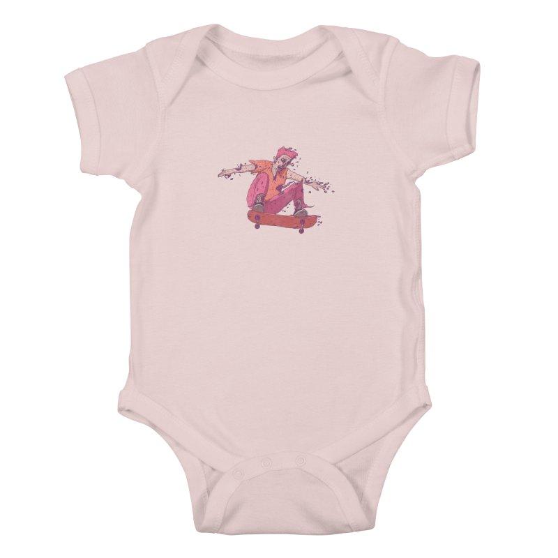 Zombie Skater #1 Kids Baby Bodysuit by Laurent's Artist Shop