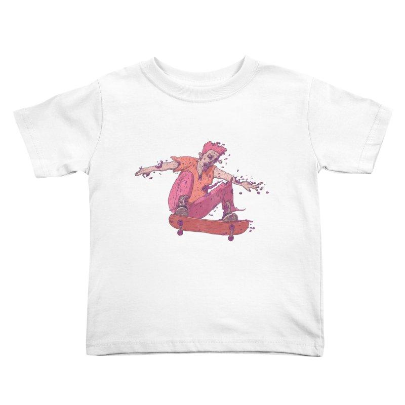 Zombie Skater #1 Kids Toddler T-Shirt by Laurent's Artist Shop