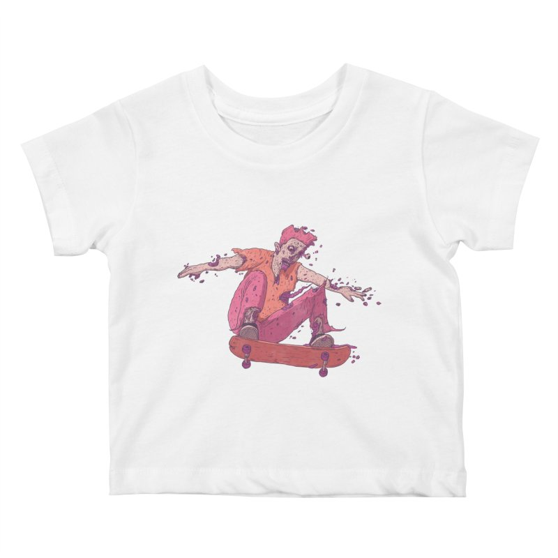 Zombie Skater #1 Kids Baby T-Shirt by Laurent's Artist Shop