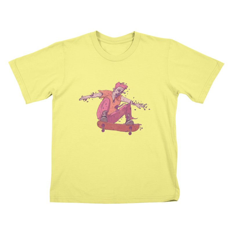 Zombie Skater #1 Kids T-shirt by Laurent's Artist Shop