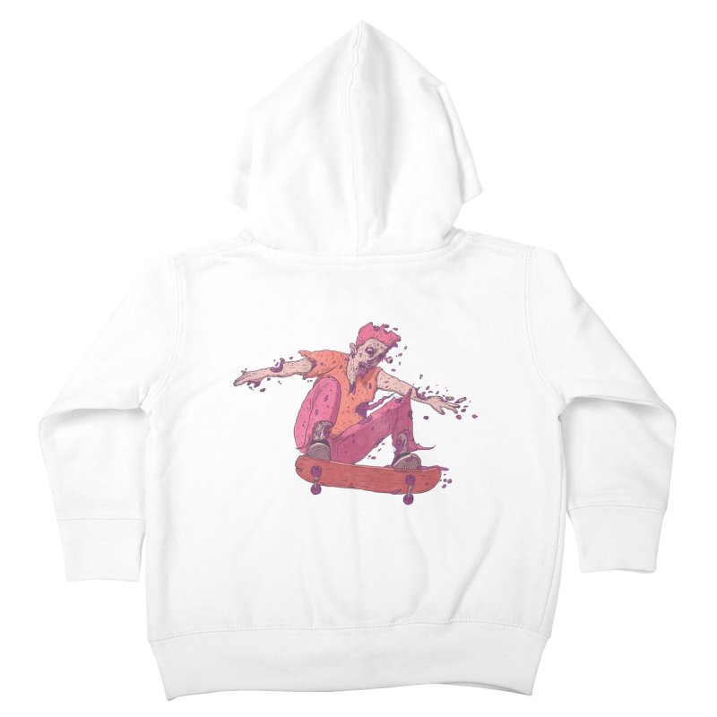 Zombie Skater #1 Kids Toddler Zip-Up Hoody by Laurent's Artist Shop