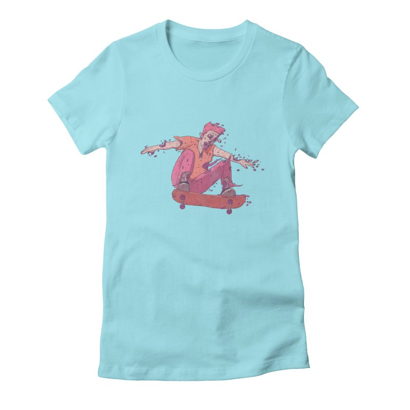 Zombie Skater #1 Women's Fitted T-Shirt by Laurent's Artist Shop