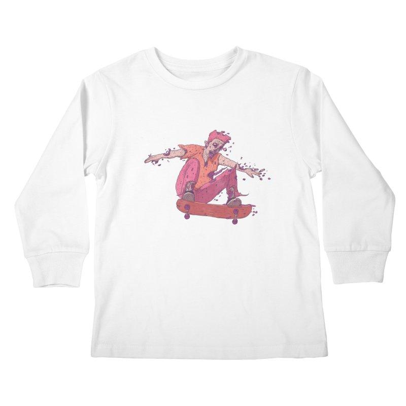 Zombie Skater #1 Kids Longsleeve T-Shirt by Laurent's Artist Shop