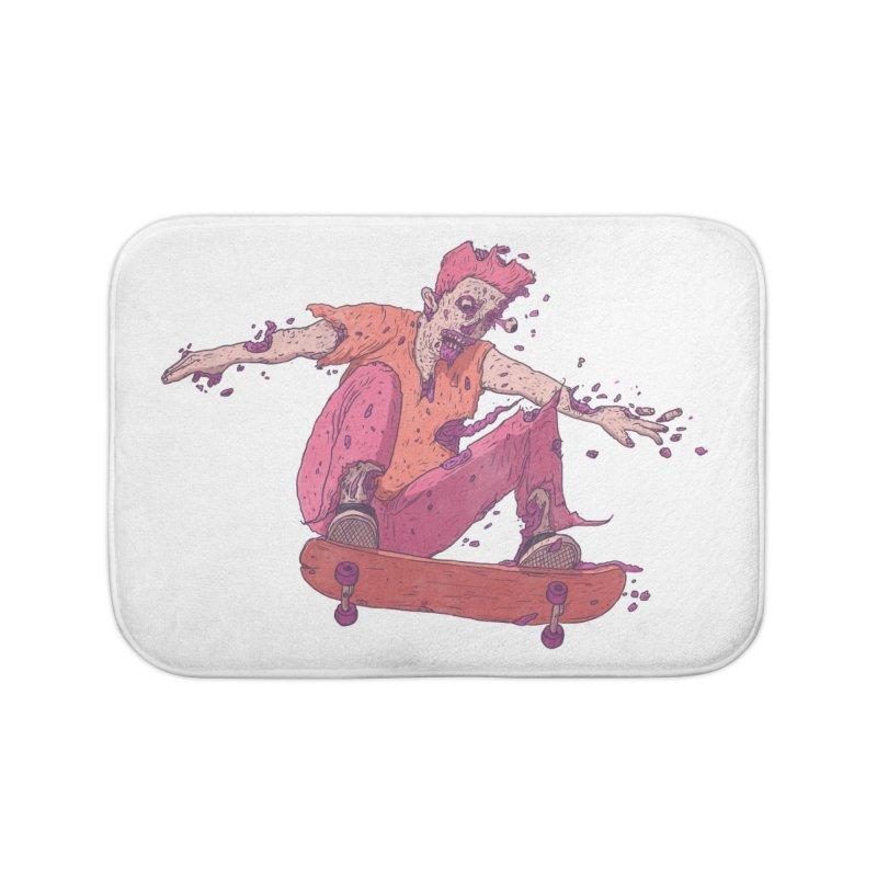 Zombie Skater #1 Home Bath Mat by Laurent's Artist Shop