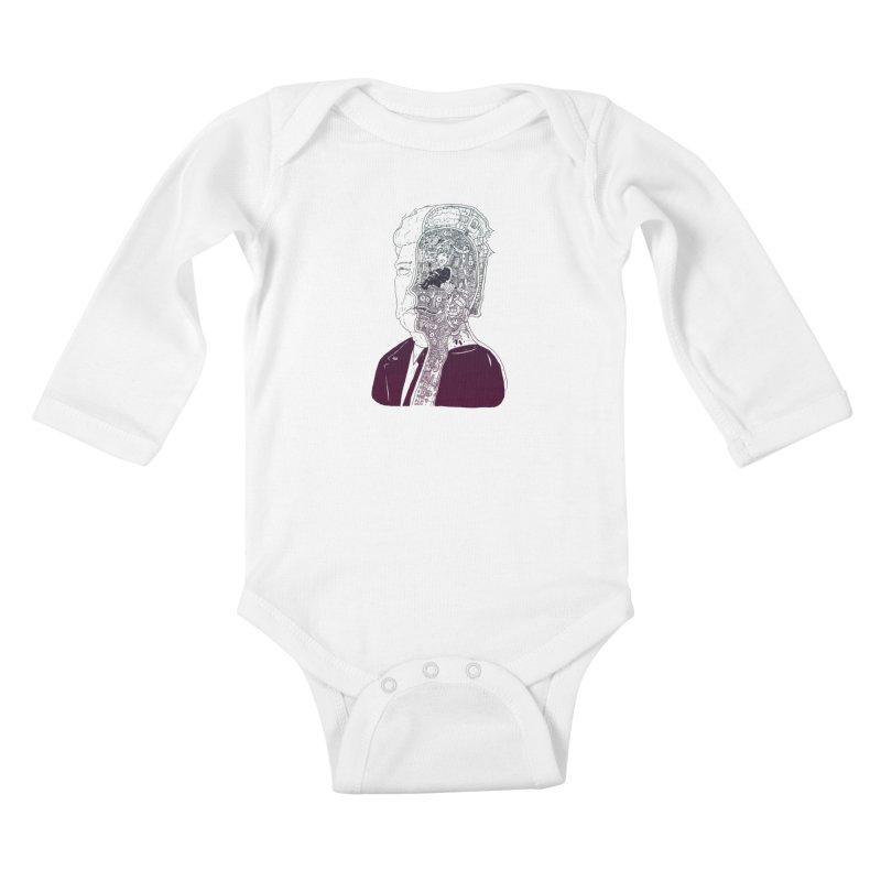 Inside Drumpf Kids Baby Longsleeve Bodysuit by Laurent's Artist Shop