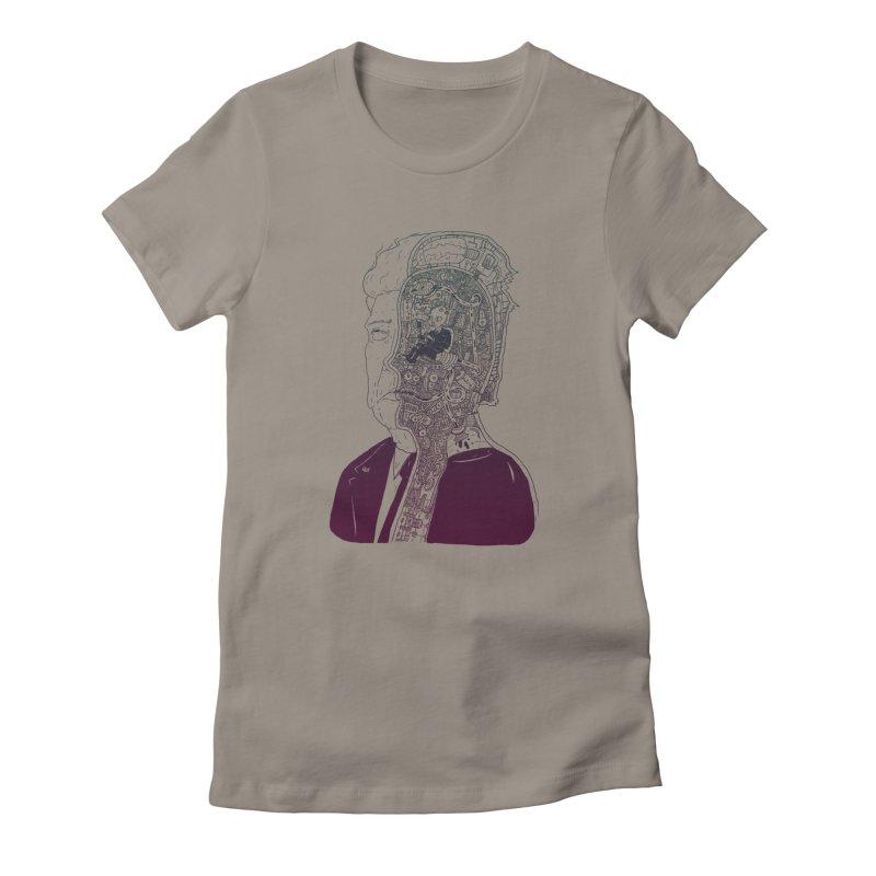 Inside Drumpf Women's Fitted T-Shirt by Laurent's Artist Shop