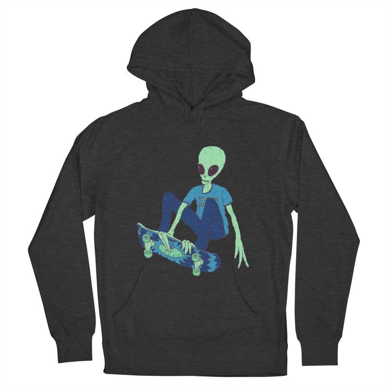 Alien Skater Women's Pullover Hoody by Laurent's Artist Shop