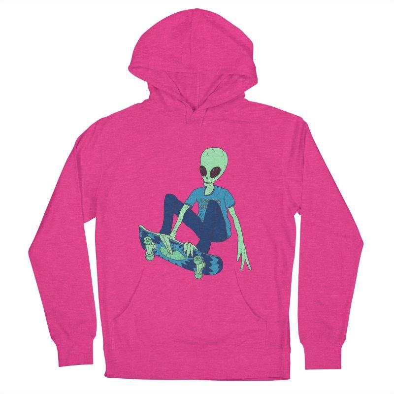 Alien Skater Men's Pullover Hoody by Laurent's Artist Shop